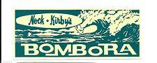 """""""Bombora Surfboards Nock & Kirbys"""" Retro Sticker Decal 1960s Longboard Surfing"""