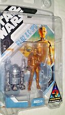 McQUARRIE Star Wars R2-D2 C-3PO Droid action figure set Celebration Hasbro 2007