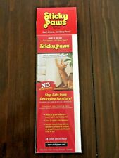 New! ~Sticky Paws~ Stop Cats From Destroying Furniture 24 Strips Per Package