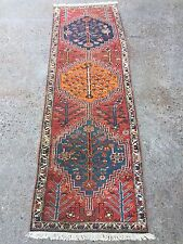 Antique Persian Heriz Runner 1920s, 245x75cms, shabby chic, country house, old