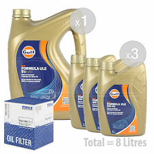 Engine Oil and Filter Service Kit 8 LITRES Gulf Formula ULE 5w-40 8L