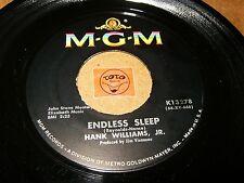 HANK WILLIAMS JR - ENDLESS SLEEP - MY BUCKET'S GOT A    / LISTEN -  ROCK N ROLL