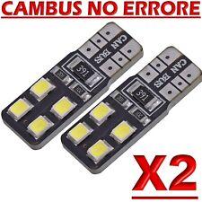 2 LED T10 Lampade Canbus 8SMD 2835 Bianco No Errore Luci Posizione Xenon Targa