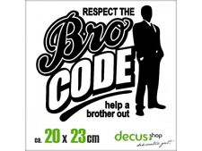 Respect the bro código Barney XL 2352 // sticker JDM pegatinas parabrisas