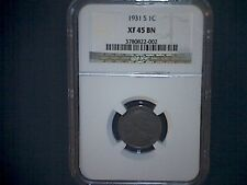 1931-s Lincoln cent NGC XF45