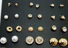 Women Girl Gift Ear Stud Studs Earrings Jewelry Set of 12 Pairs Mix Design UK