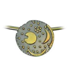 Sternenschmuck Himmelsscheibe von Nebra 18mm Anhänger 925/- Silber vergoldet