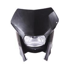 Black Motorcycle ktm headlight Dirt Bike Headlamp Street Fighter Front Light
