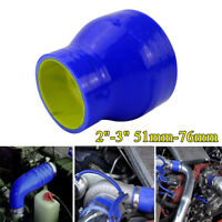 "Silicone Hose Straight Intercooler Turbo Coupler Tube Intake Pipe 2-3"" 51mm-76mm"