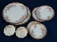 Queens China G&W England 8 Pieces 2 of Ea. Dinner, Bread/Butter, Saucer, Tea Cup