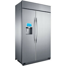"Samsung Built In 48-Inch Refrigerator, 8""LCD, Twin Cooling #RS27FDBTNSR"
