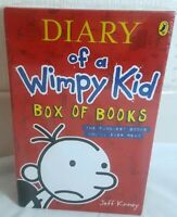 New and sealed Diary of a Wimpy Kid Box of books. 4 books. Puffinbooks.