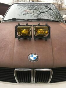 Oem Zkw Fogs Fog Lights Converted In Yellow For Bmw E30 Late Model