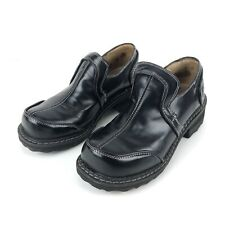 John Fluevog Black Leather Women's Loafer Shoes Creepers Size US 6