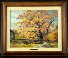 FINE c1930 JOACHIM GAUTHIER ARCA OSA CANADIAN FALL LANDSCAPE OIL PAINTING