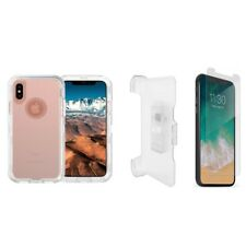 For iPhone XR Transparent Defender Case w/Screen&Clip Fit Otterbox Clear