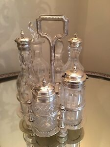 Antique English Salt And Pepper Cruet Set