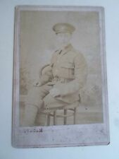 Antique Cabinet Card JOS DUNCUM Photo Beverley - In Military Uniform