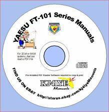 YAESU FT-101 FT-101B FT-101E FT-101EE FT-101EX FL-2100B, CD Manuals Only