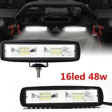 2 X NEW 80W 6 inch LED Work Light Bar Flood Beam Off road 4WD UTE Driving Light