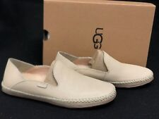 UGG Australia Elodie Wool Lined Leather Slippers 1020235 Cream Shoes Loafers