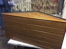 DOOR CANOPY, NO ASSEMBLY REQUIRED. LIGHT OAK UPVC. COMES BUILT UP READY TO FIT.