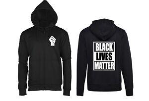 T-SHIRT FELPA MAGLIA BLACK LIVES MATTER BLACK POWER NO RACISM