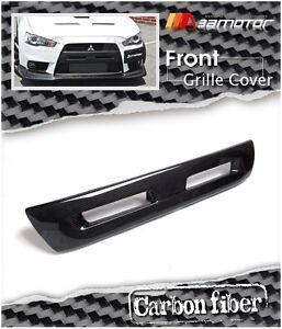 Carbon Fibre Front Bumper Center Grille Cover fits Mitsubishi Evolution X EVO 10