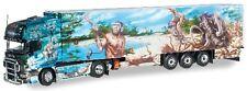 Scania 164 TL Semi-remorque frigorifique Herpa présente l'histoire du monde N° 1