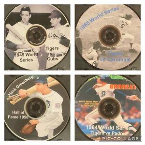 Lot Of 4: 1945, 1968, 1984 World Series Detroit Tigers & Hank Greenberg Bio