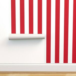 Wallpaper Roll Circus Stripes Red Vertical Carnival Tent Fair 24in x 27ft