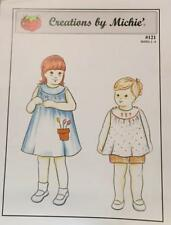 """NEW Pattern """"Sundress, Top, Shorts   SZ: 2-6  Creations by Michie #121"""