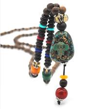 Interesting Handmade Nepal Elephant Pendants Necklace Women Men 42inch