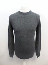 Jack Wills Mens Rye Merino Donegal Crew Neck Jumper Charcoal XS box57 33 E