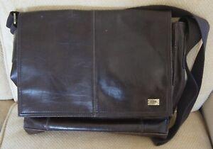STORM London Brown Cross Body Laptop Messenger Bag