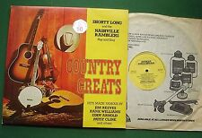 Shorty Long & The Nashville Ramblers Play and Sing Country Greats MER412 LP