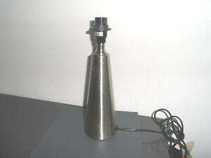 chrome table lamp base 29 cms