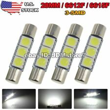 4x White 28MM ~ 31MM 6641 Fuse Car LED SUN Visor Vanity Mirror Light Bulbs 6612F