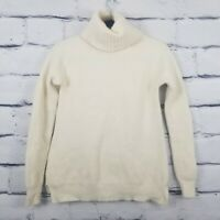 Ag Adriano Goldschmied Sz Medium Ivory Wool/ Cashmere Turtleneck Sweater Italy
