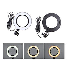 LED Ring Light Studio Photo Video Dimmable Lamp Tripod Stand Selfie Phone 5500K