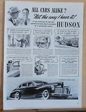 1941 magazine ad for Hudson - America's Safest Car, different 5 important ways