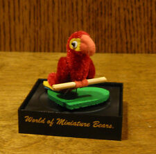 World of Miniature Bears #766 RED/GOLD PARROT, by Becky Wheeler From Retail Shop