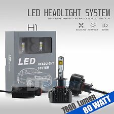 80 Watts 7800LM CREE LED H1 Fog Light Kit Low Beam Bulbs 6000K White High Power