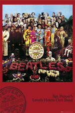 The Beatles Poster SGT SERGENT PEPPER'S LONELY HEARTS CLUB BAND Wall Art grandes