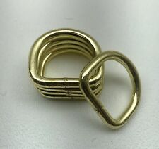 Lot Of 24- Heavy Duty 1� Brass D-Ring/ Handbags/ Dog Collar High Quality