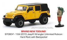 Greenlight Jeep Wrangler Unlimited Rubicon Hard Rock 15 w/ Backpacker 97080 1/64