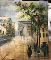 Maurice Utrillo ORIGINAL OIL Canvas ON STRETCHER FRAME