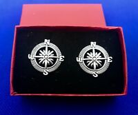 Compass Cufflinks Nautical Cuff Links New In Box