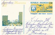 Indonesia Illustrated Postal Card-DJAKARTA 5/7/71-to BANDUNG-SCARCE USAGE