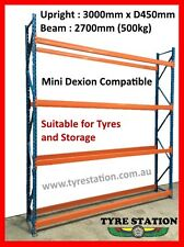 NEW TYRE / WAREHOUSE PALLET RACKING UPRIGHT 3000MM DEXION COMPATIBLE